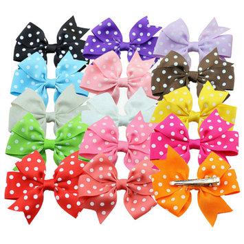 Coxeer 15 Pcs Baby Girls Grosgrain Ribbon Hair Bows Alligator Clips Fashion Headbands For Teens Women Girls Kids