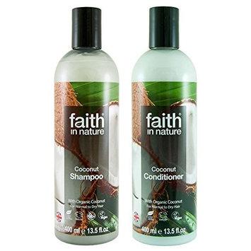 Faith In Nature Coconut Shampoo 400ml and Conditioner 400ml Duo