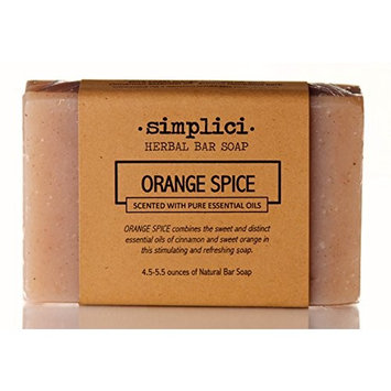 SIMPLICI Orange Spice Natural Soap (scented with pure essential oils)