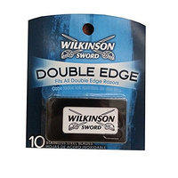Wilkinson Sword Double Edge Razor Blades, 10 ct. (Pack of 1) + FREE LA Cross 71817 Tweezer