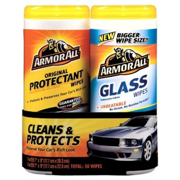 Armor All Glass/Protectant Wipes 2 pack