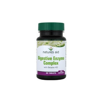 Natures Aid Digestive Enzyme Complex (with Betaine HCI) 60 Tablets. Suitable for Vegetarians.