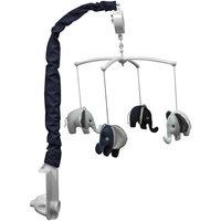 Bacati Elephants Musical Mobile, Blue/Gray