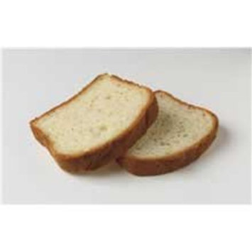 European Bakers Mountain Farm Gluten Free Round Top White Bread - 72 per case.