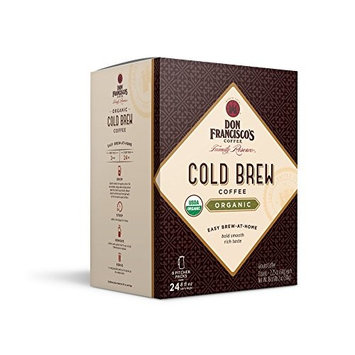 Don Francisco's Organic Cold Brew Coffee, Premium 100% Arabica Beans, 8 Pitcher Packs (makes 4 pitchers)