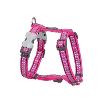 Red Dingo DH-RB-HP-LG Dog Harness Reflective Hot Pink Large