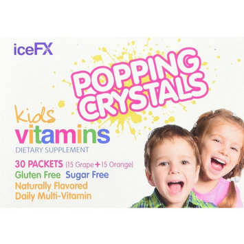 iceFX Popping Kids Multivitamin A, B6, B12, C, D, E, Zinc, 30 count (30 day supply)