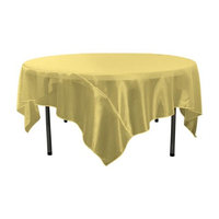 LA Linen TCOrgz72X72-DarkYellowO47 Sheer Mirror Organza Square Tablecloth, Dark Yellow - 72 x 72 in.