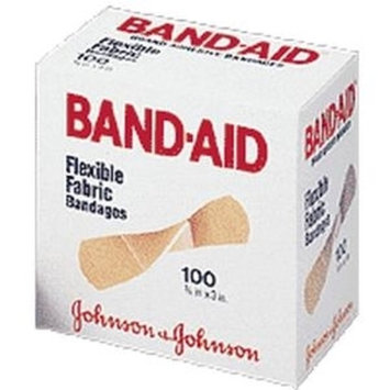 Johnson & Johnson Band-Aid, Flexible Fabric Adhesive Strip, 3/4x3-Box of 100