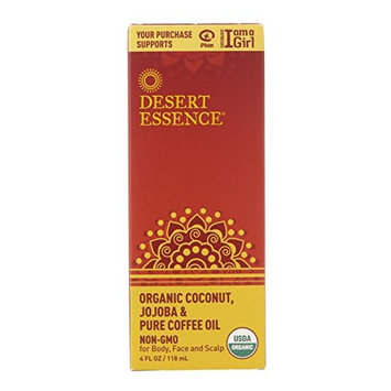 Desert Essence Organic Coconut with Jojoba and Pure Coffee Oil - 4 fl oz (Pack of 2)