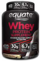 Equate Whey Protein Powder, Smooth Vanilla, 30g Protein, 2 Lb