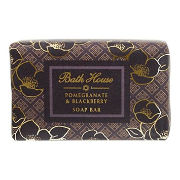 Bath House Pomegranate and Blackberry Soap Bar, Triple Milled Vegetable Base Cleanses and Nourishes the Skin, Made with 98% Natural Ingredients, Infused with Fruity Floral Fragrance, 150 Gram Wash Bar
