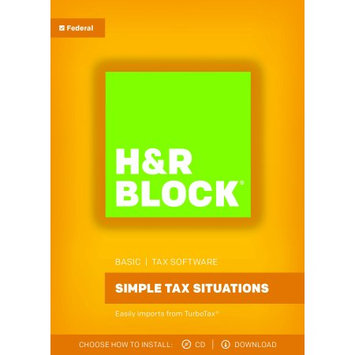 H & R Block HR Block(R) Basic 2017 Tax Software, For PC/Mac, Traditional Disc