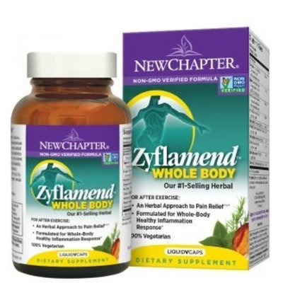 Chapter Joint Supplement + Herbal Pain Relief - Zyflamend Whole Body for Healthy Inflammation Response - 120 ct [Vegetarian Capsules]