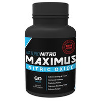 Naturo Sciences Maximus Nitric Oxide Tablets By Naturo Nitro â High Potency NO Booster and L-arginine Supplement - Allows You to Build Muscle Faster, Workout and Train Longer and Harder â 60 Tablets