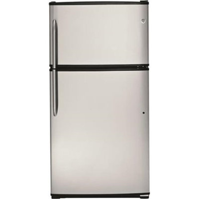 GE 21.0 cu. ft. Top-Freezer Refrigerator - Stainless Steel