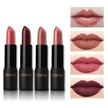 UCANBE Shimmer and Matte Red Lipstick Set Long Lasting, 4 pcs