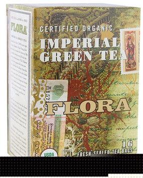 Flora Organic Imperial Green Tea 16 Tea Bags