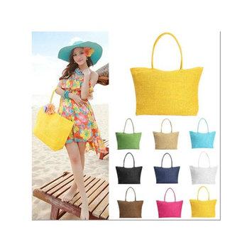 Fashion Women Summer Straw Weave Shoulder Lady Beach Purse Handbag Tote Shopping Bag