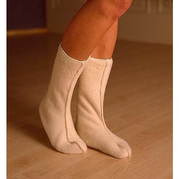 Adult Bed Socks in Organic Merino Wool, Soft Grey, size Small (pair)