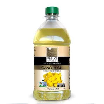Native Harvest Expeller Pressed Non-GMO Canola Oil, 2 Liters (67.6 FL OZ)