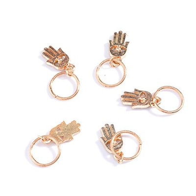 ieasysexy 60pcs Gold/50pcs Silver Hair Clips Set Shell Hand Star Leaf Pendant Rings Set for Women