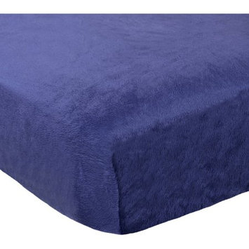 Triboro Quiilt Manufacturing Corporation Child of Mine by Carter's Transportation Plush Fitted Crib Sheet, Navy