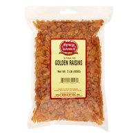 Spicy World, Golden Raisins, Premium, 2 Lbs.