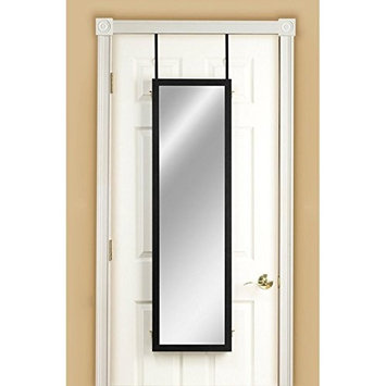 Mirrotek 3VU1448CH Triple View Professional Over The Door Dressing Mirror with 4 Mirrors, Cherry