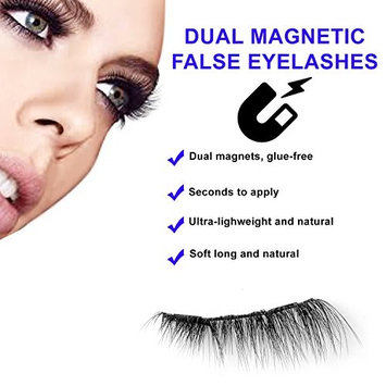 3D eyelashes magnetic - Lightweight, No Glue, Natural Look, Comfortable, Reusable with Free Eyelash applicator