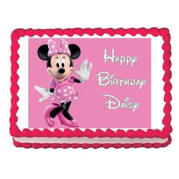 MINNIE MOUSE party decoration edible cake image cake topper birthday