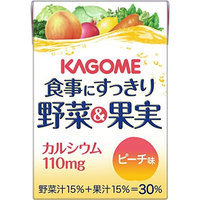 Kagome 100mlX36 this clean vegetables and fruit calcium Peach taste to meal