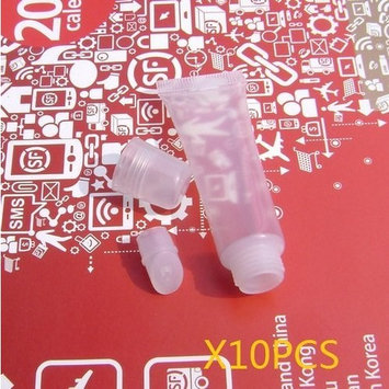 SPHTOEO 10PCS Refill Empty Tubes Lip Gloss Balm Clear Cosmetic Containers 10ml-Bevel pipe?