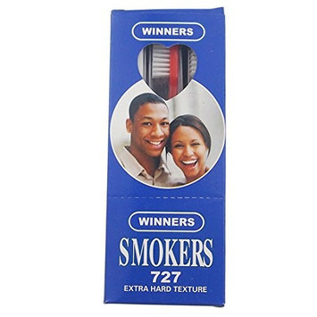 12PCS/Box Dr.Perfect Adult Extra Hard Toothbrush For Smokers Four Colors Blue Box