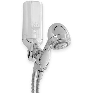 Pelican Water 3-Stage Premium Shower Filter with 5 ft. Wand Combo, Grey