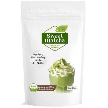 Japanese Sweet Matcha Green Tea Powder (16oz/453g) Latte Grade; Delicious Energy Drink - Shake, Latte, Frappe, Smoothie. Made with USDA Organic Matcha.