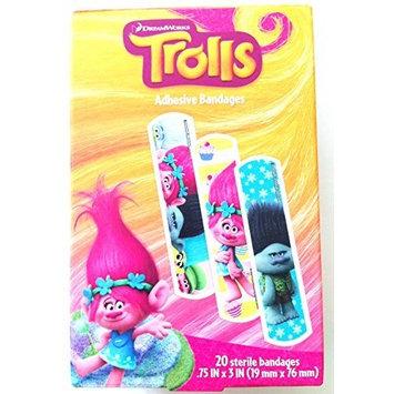 Trolls 20 Sterile Bandages/Bandaids
