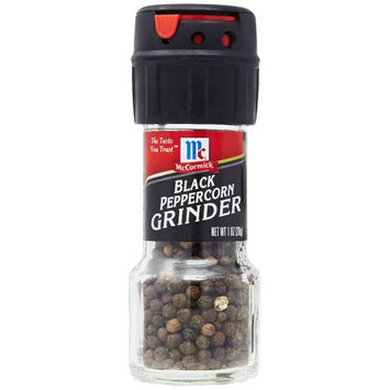McCormick Black Peppercorn Grinder, 1 OZ (Pack of 2)