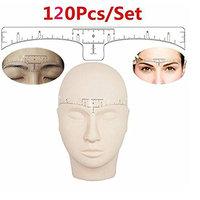 JM-capricorns 120Pcs Disposable Eyebrow Ruler Sticker, Adhesive Eyebrow Microblading Ruler Guide For makeup tool ,Eyebrow Ruler