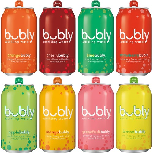 bubly Sparkling Water Variety Pack 8 Flavor Sampler 12 Fluid Ounce Can 18 Pack