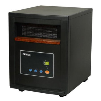 Optimus - Quartz Infrared Heater With Remote - Black