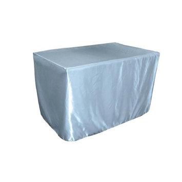 LA Linen TCbridal-fit-48x30x30-BlueLgtB18 Fitted Bridal Satin Tablecloth Light Blue - 48 x 30 x 30 in.