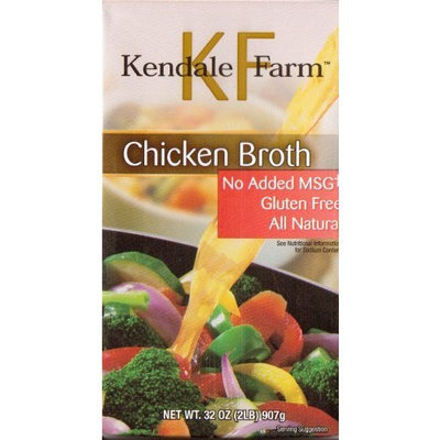 Kendale Farm Broth Kendale Farm All Natural Gluten & MSG Free Chicken Broth 32 Oz. Easy Open Container (Pack of 4)