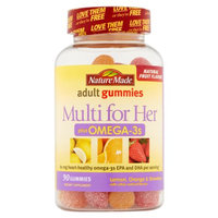 Nature Made Nutritional Products Nature Made Multi for Her Plus Omega-3s Lemon, Orange & Strawberry Adult Gummies, 90 count