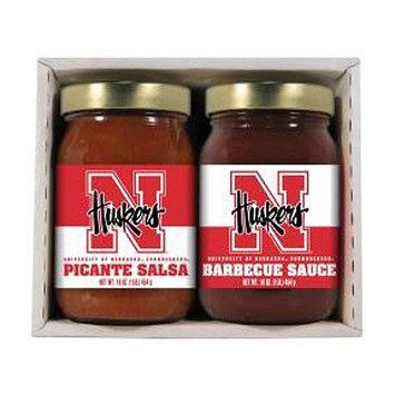 Hot Sauce Harrys 4711 NEBRASKA Huskers Double Play BBQ Salsa