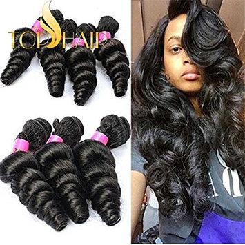 Top Hair 7a 100% Unprocessed Peruvian Virgin Hair Loose Wave 8 to 30 Inch Hot Sell Peruvian Virgin Hair Curly Wave Human Hair Extensions 100g/pc 1 Bundle 12 Inch