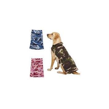Casual Canine Camo Barn Coat Green, Small