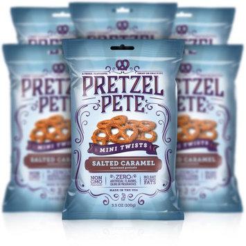 Pretzel Pete, Inc. Pretzel Pete Mini Twist Pretzels, Salted Caramel, 3.5 Oz, Pack of 6