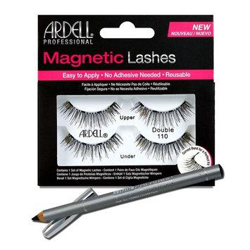 Ardell Professional Double 110 Magnetic Lashes + Unikcolours Black Eyeliner Pencil - Eye Makeup Set