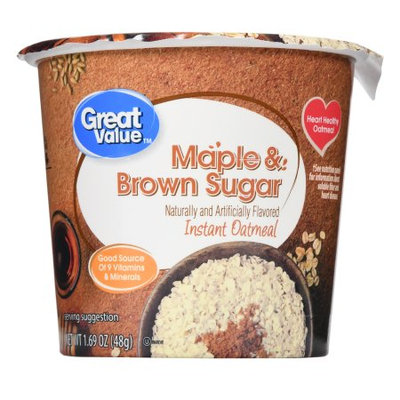 Great Value Maple & Brown Sugar Instant Oatmeal Cup